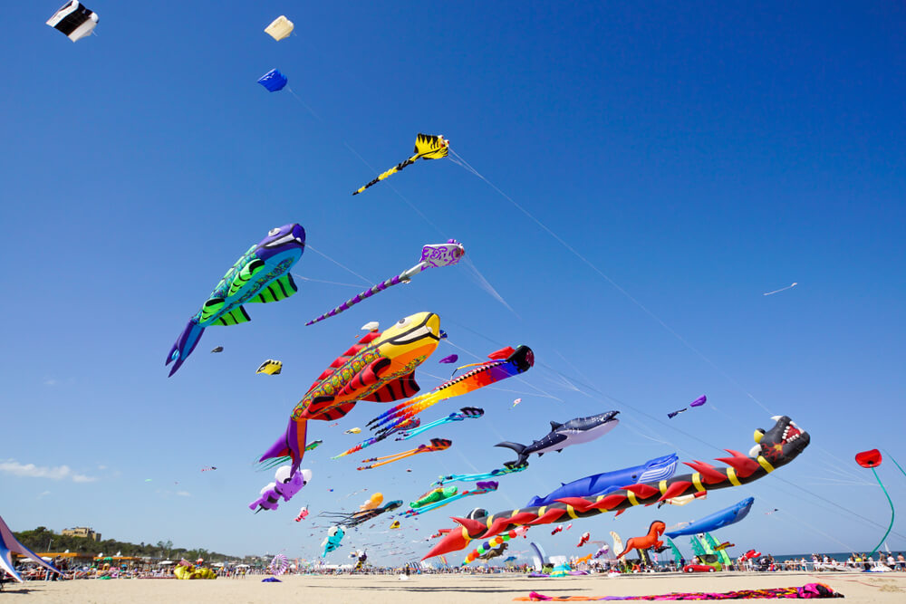 Photo of the Fall Kite Festival, One of the Premier Upcoming Events in Lincoln City, Oregon.