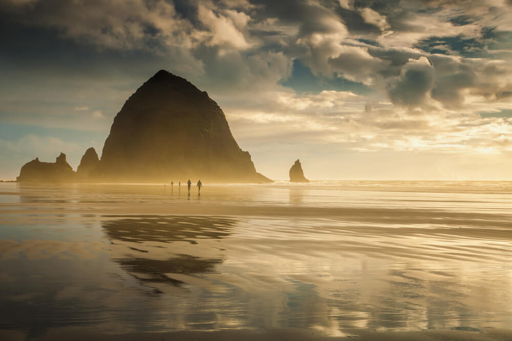 Dusk Photo of Cannon Beach, One of the Top Oregon Coast Attractions